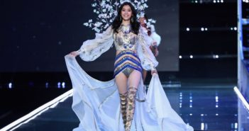 chinese model on catwalk at victoria's secret fashion show in shanghai
