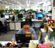 office with staff in china