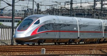 front and side view of high speed rail train in china