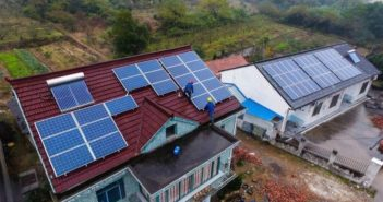 solar panels on houses in china