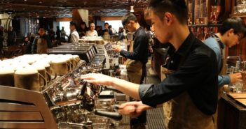 barristas working at a starbucks in china