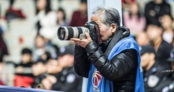 elderly sports photographer in china