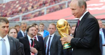 putin with the world cup trophy