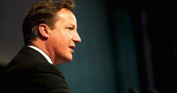 side view of david cameron