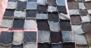 bed sheets made out of clothes