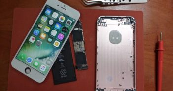 a dismantled iphone