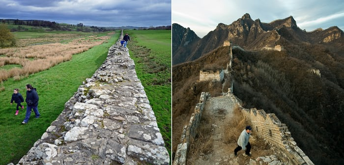 hadrian's wall and the great wall of china