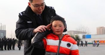 boy with father in beijing