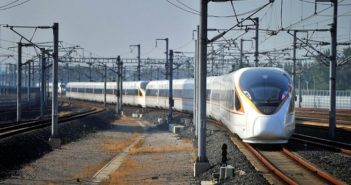 front view of bullet train in china