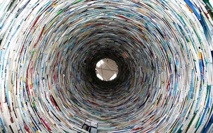 book tower at university in china