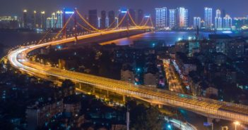 wuhan at night