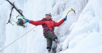 legless climber on the mountain