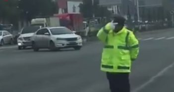 traffic police man in china