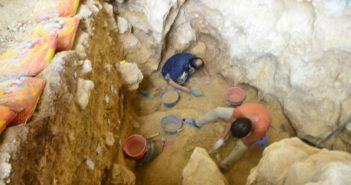 archaeological dig at cave in china