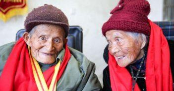 elderly couple in china