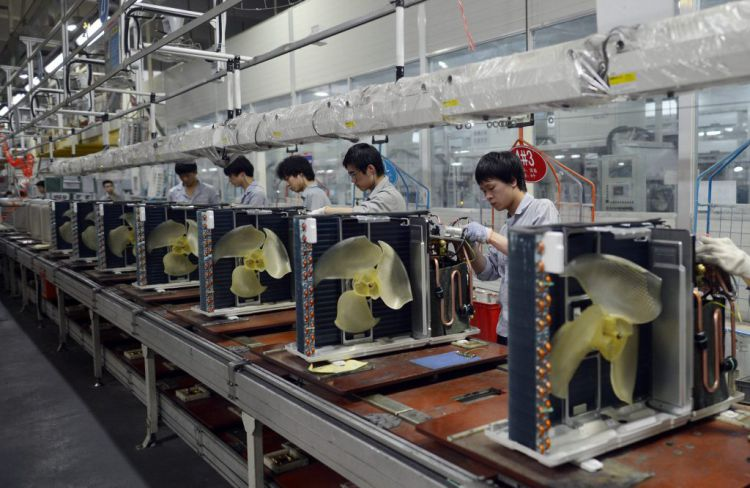 manufacturing line at factory in china