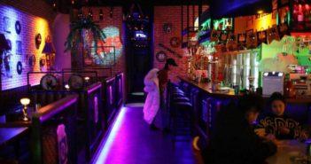 woman at a karaoke bar