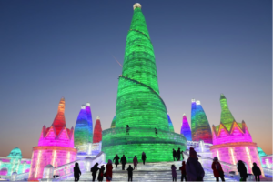 Amazing sculptures of the Harbin Ice Festival 2018