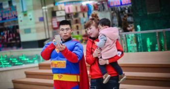 man dressed as superman in china