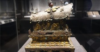 tang dynasty relic on display at the museum in hangzhou