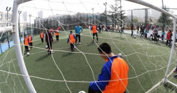 autistic children playing football in china
