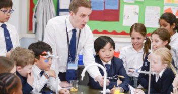 teacher giving class at international school in china