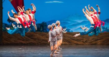 scene from chinese ballet the red detachment of women
