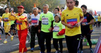 marathon runners in china