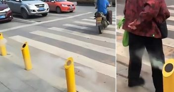 water spray device at crossing in hubei