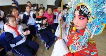peking opera performance at primary school
