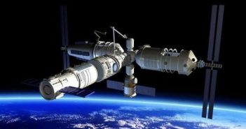 computer image showing space station