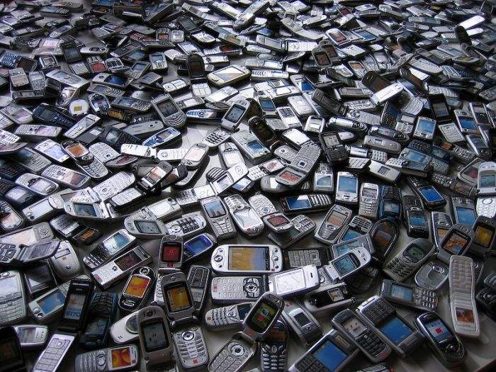 a sea of mobile phones