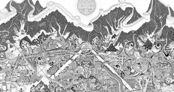 hand-drawn artistic map of beijing