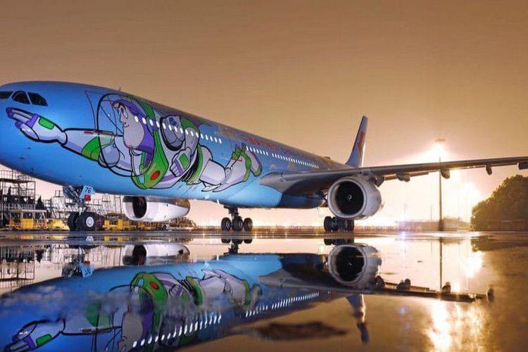 东航玩具总动员主题飞机首航
