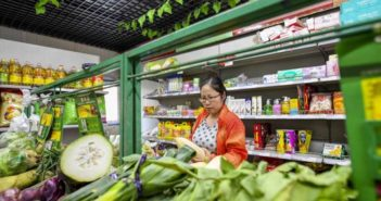 woman grocery shopping in china