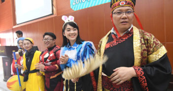 teachers dressed in costume for gaokao in china