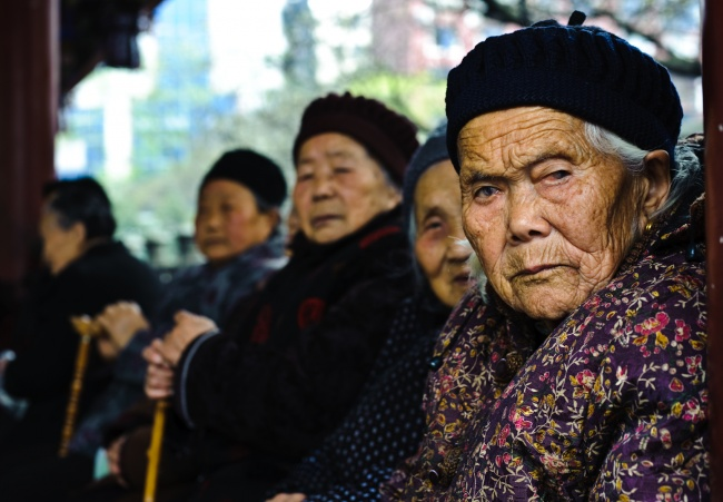 elderly women in china