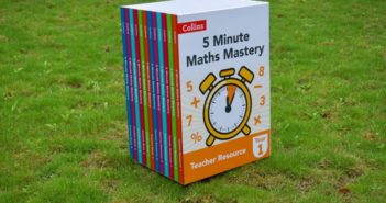 5 minutes maths mastery textbook collection on grass