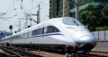 high speed railway train in china