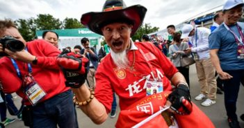 chinese fan at world cup in russia