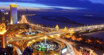 songhua river bridge in harbin
