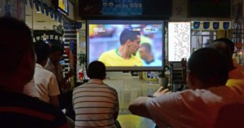 people watching world cup game in china