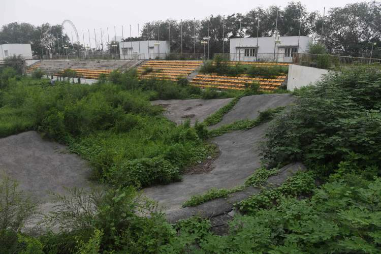BMX Track Overgrown