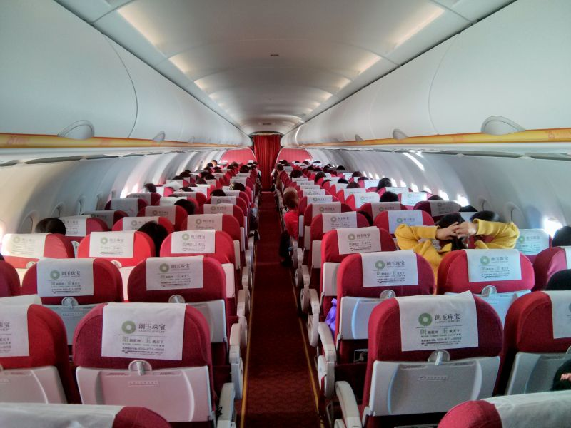 luck air airplane cabin
