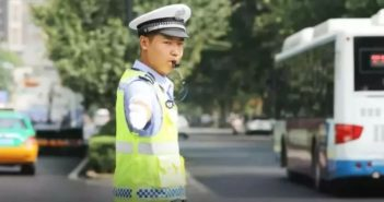 traffic police officer on duty in china
