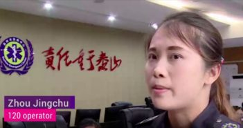 rescue call operator giving interview in china