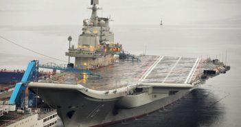 CNS Shandong aircraft carrier at port