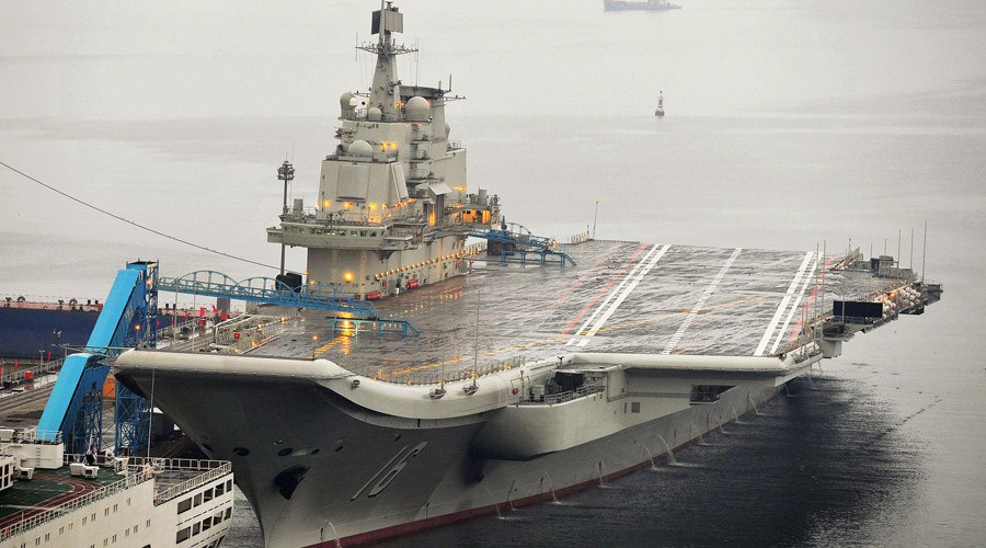 CNS Shandong aircraft carrier at port