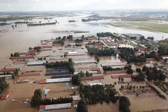 中国最大蔬菜基地遭遇洪水袭击