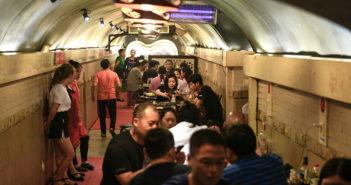 hotpot restaurant inside old bomb shelter in chongqing